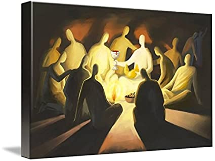 Amazon.com: Imagekind Wall Art Print entitled The Last Supper by Ain ...