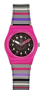 Lulu Castagnette 38696 - Reloj analógico de cuarzo para niña con correa de plástico, color multicolor