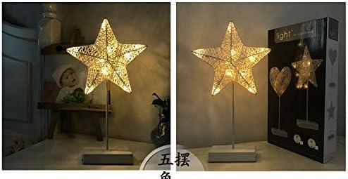 Lichterketten Moderne Cane Stern Modellierung Bunte Lichter Innen Schlafzimmer Wohnzimmer Plattform Dekorative Lampe Pentagon LED Nacht Licht
