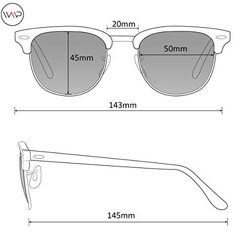 1d00ca3a46 Jual WearMe Pro - Round Retro Semi Rimless Retro Sunglasses ...