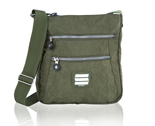 (Suvelle Lightweight Go-Anywhere Travel Everyday Crossbody Bag Multi Pocket Shoulder Handbag)