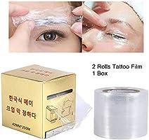 2 lådor / set tatuering vidhäftande film, transparent plastrulle för engångsögonbryn läppar permanent smink tillbehör...