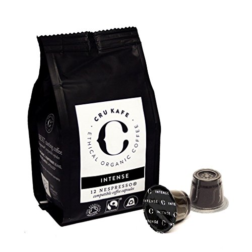 CRU Kafe Organic Nespresso Compatible Coffee Capsules - Intense (48 pods)