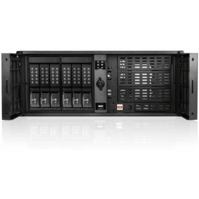 iStarUSA D-407P-DE6BK Black Steel 4U Rackmount Compact Stylish Server Case (Compact Server Rackmount)