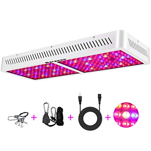 Garpsen 2000W Double Chips LED Grow Light, Optical Lens Full Spectrum LED Plant Light with Daisy Chain | Rope Hanger | Switch for Indoor Greenhouse Hydroponic Plants (10W LEDs)