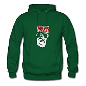 X-large Off-the-record Green Hoody For Women Cotton Lightweight Shut Up & Dance 2