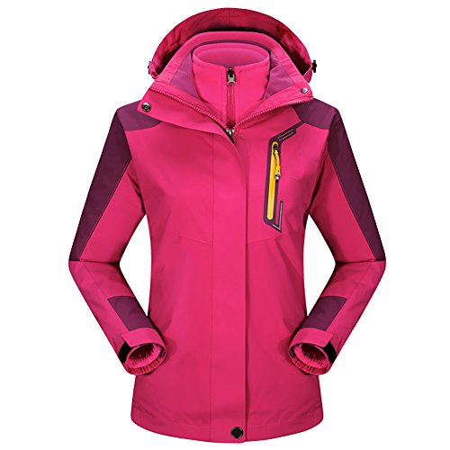 in Rain LaoZan Fleece Jacket 3 Waterproof Autumn Ski Women Spring Coat Winter Rose 1 SoftShell Hoodie Jacket Ofqgwq