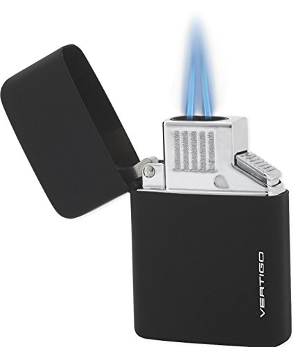 Z-plus Torch - Vertigo Z Plus Butane Torch Flame Black Lighter