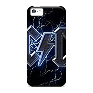Shock Absorbent Hard Cell-phone Cases For Iphone 5c (WfE19722fbqb) Support Personal Customs Colorful Ac Dc Band Pattern
