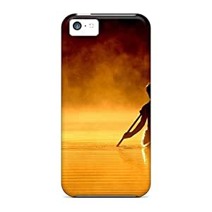 Ultra Slim Fit Hard Jeffrehing Case Cover Specially Made For Iphone 5c- Nature
