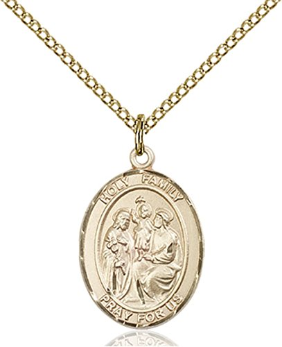 14K Gold Filled Holy Family Medal Pendant, 3/4 -