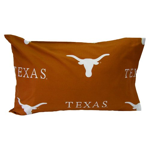 College Covers Texas Longhorns Pillowcase Pair - King - Solid (Includes 2 Pillowcases)