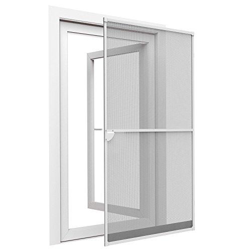 Sol Royal® Insektenschutz-Tür 100x215cm Weiß - Fliegen-Gitter Bausatz mit Alu-Rahmen - individuell kürzbar & sehr stabil