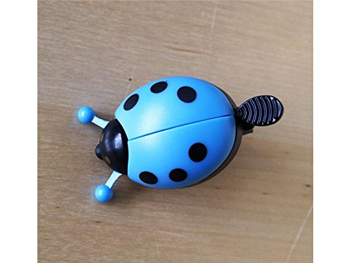 aDream Leggero e resistente Bici per bambini campanello corno divertente coccinella manubrio bicicletta campana anello bici forte suono nitido chiaro (blu)