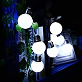 Longay LED Solar Powered String Light 10 Bulbs String Lamp Beads Party Fairy Decor (B)