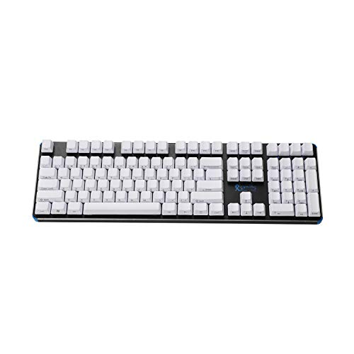 Side-Printed Thick PBT OEM Profile 108 ANSI Keycaps for MX Switches Mechanical Keyboard (White) ()
