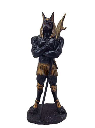 Egyptian Statue (11 Inch Anubis Egyptian Mythological Creature Statue Figurine)