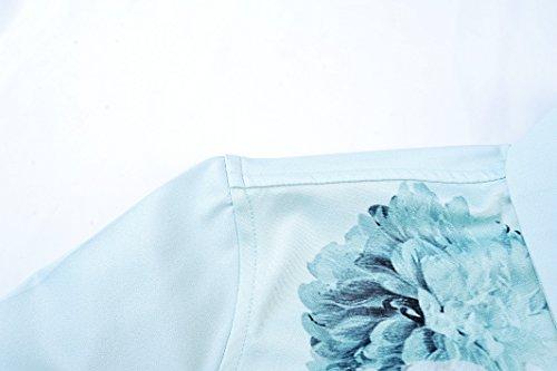 FANZHUAN Chemise Homme Fantaisie Luxe Fashion Imprimée Slim Fit Décontractée à Manche Longue Homme Mode