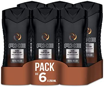 Axe Dark temptation - Set de 6 geles de ducha (6 x 250 ml): Amazon ...