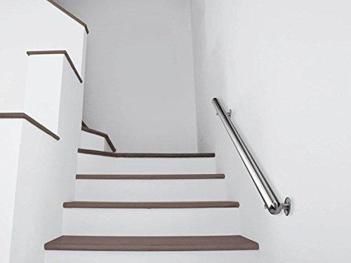 155 cm ca LIVARNO/® Handlauf-Set f/ür Treppen im Innen- und Au/ßenbereich Edelstahl