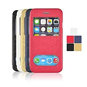 TOPAA Angibabe Untral Slim Oracle Double Viewing Windowns Leather Case for iPhone 6 (Assorted Colors) , Red