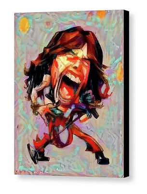 Framed Steven Tyler Aerosmith Caricature 8.5X11 Art Print Limited Edition w/signed -