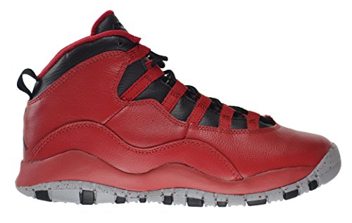 Jordan Air 10 Retro 30th BG Bulls Over Broadway Big Kids Shoes Gym Red/Black-Wolf Grey 705179-601 (4 M US) by Jordan