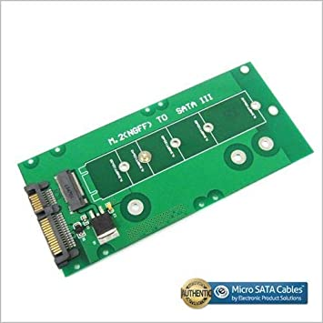 M.2 to SATA III Adapter for 110 mm and 80 mm SSD