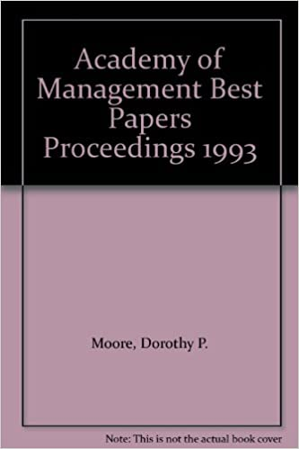 Academy of Management Best Papers Proceedings 1993: Dorothy