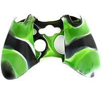 Funda Protectora Control Xbox 360 Verde Claro Negro