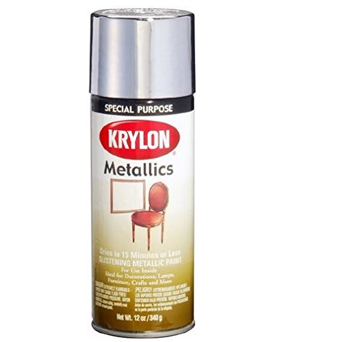 Krylon 1707 Metallic Spray Paint 12 Oz Chrome Pack Of 6