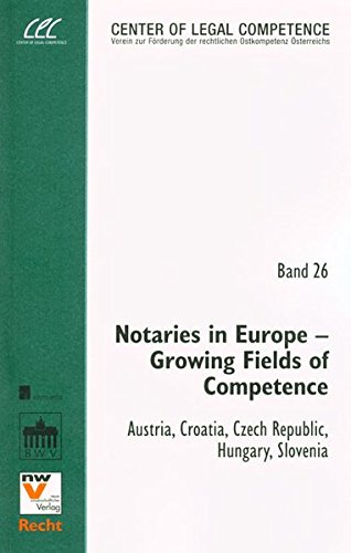 Notaries in Europe - Growing Fields of Competence