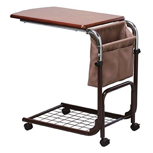 サイドテーブル ベッド補助テーブル 昇降式テーブル キャスター付き B00B7C4VZU
