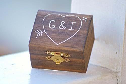 Amazon.com: Custom engagement ring box, rustic wedding