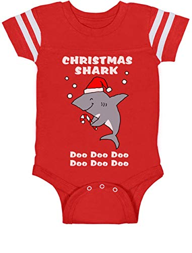 bc55d5fd116 Christmas Baby Shark Doo Doo Doo Family Holiday Song Baby Jersey Bodysuit.  Tap to expand