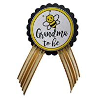 Grandma to Be Pin Baby Shower Yellow and Black Badge for Nona to wear at Baby Sprinkle...