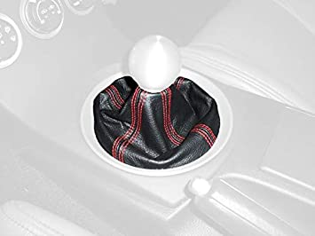 for Infiniti G35 Coupe 2002-2007 Shift Boot Black Orange Leather