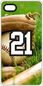 Baseball Sports Fan Player Number 21 White Rubber Decorative iphone 6 4.7 Case
