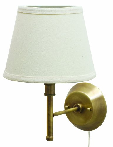 House of Troy GR901-AB Greensboro Collection 13-Inch Portable Wall Lamp, Antique Brass