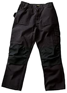 Blaklader Workwear Bantam Pant Without Utility Pockets, 32-Inch Waist, 28-Inch Length, 8-Ounce Cotton, Black