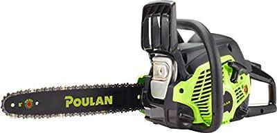 """Poulan 967084701 38cc 2 Stroke Poulan Gas Powered Chainsaw, 16"""""""
