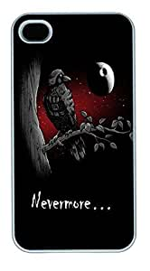 IPhone 4S Cases Nevermore HAC1014356 Polycarbonate Hard Case Back Cover for iPhone 4/4S White