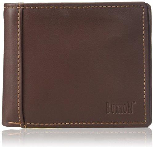 - Buxton Men's Sandokan Convertible Billfold Wallet, Brown, One Size
