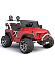 VOLTZ Two (2) Seater 12V Kids Children Electric Ride-On Toy Truck Car with Parental Remote Control, Handle Bar and Caster Wheel, MP3 Player, Full LED Lighting (Red)