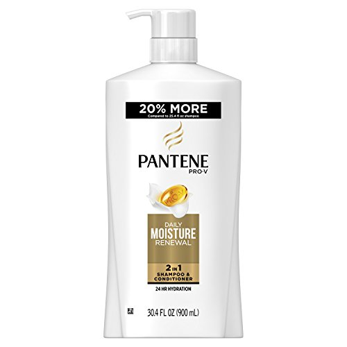 Pantene Pro-V Daily Moisture Renewal 2 in 1 Shampoo & Conditioner, 30.4 fl oz (Packaging May Vary)