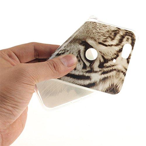 Cas Arrière Huawei Fit De 6P De Transparent Hozor Nexus Motif Silicone Résistant Souple Bord En TPU Cas Protection Antichoc Peint Couverture Tiger Slim Scratch Téléphone PTqFqOwd