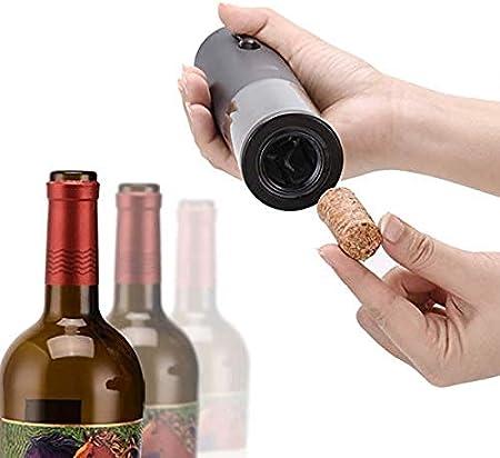 Sacacorchos eléctricos, Sacacorchos de vino recargable, Accesorios profesionales de vino, cortador con cuchillo de aluminio, tapón de vacío y cargador USB