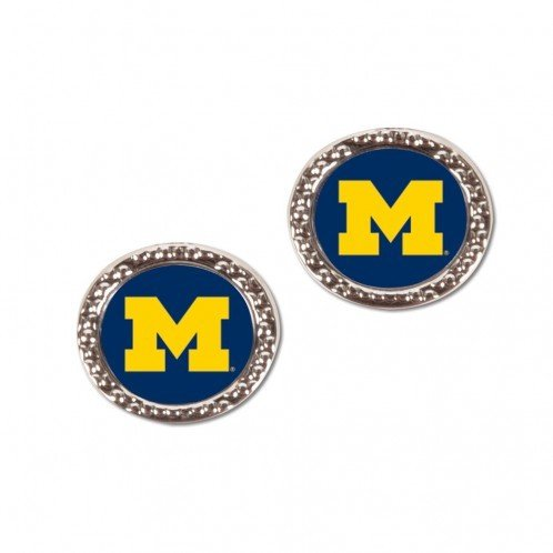 (WinCraft NCAA University of Michigan Jewelry Carded Earrings )