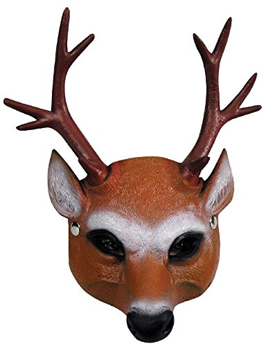 Forum Novelties 81458 Half Mask-Reindeer, 24, 1, As Shown, Any ()