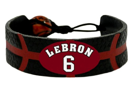 NBA Miami Heat LeBron James Team Color Jersey Bracelet